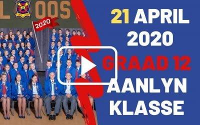 DINSDAG 21 APRIL 2020 – GRAAD 12