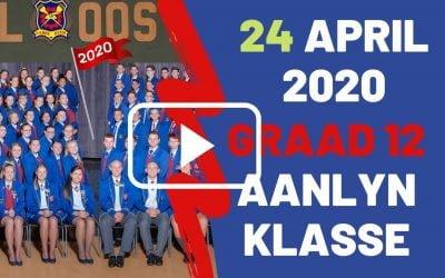 VRYDAG 24 APRIL 2020 – GRAAD 12