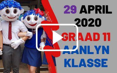 WOENSDAG 29 APRIL 2020 – GRAAD 11