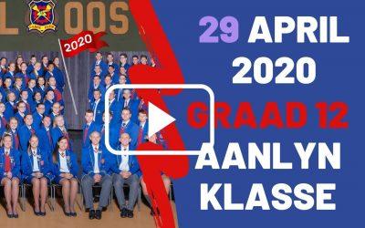 WOENSDAG 29 APRIL 2020 – GRAAD 12