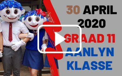 DONDERDAG 30 APRIL 2020 – GRAAD 11