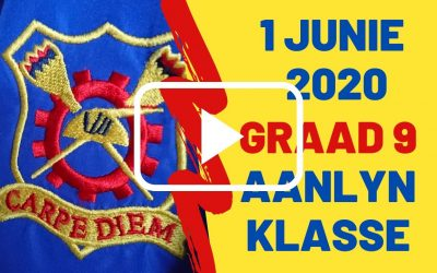 MAANDAG 01 JUNIE 2020 – GRAAD 9