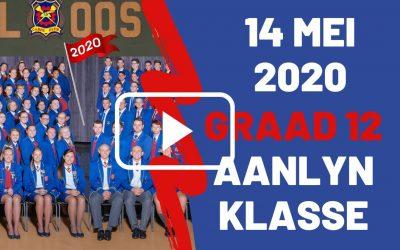 DONDERDAG 14 MEI 2020 – GRAAD 12