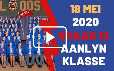 MAANDAG 18 MEI 2020 – GRAAD 12