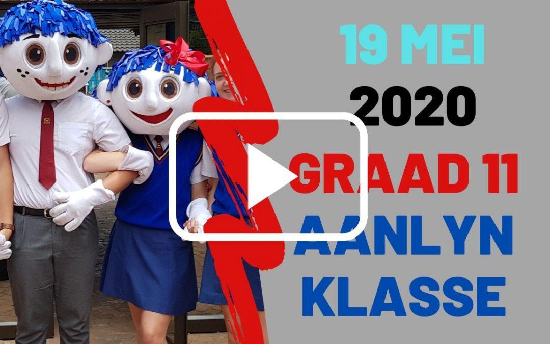 DINSDAG 19 MEI 2020 – GRAAD 11