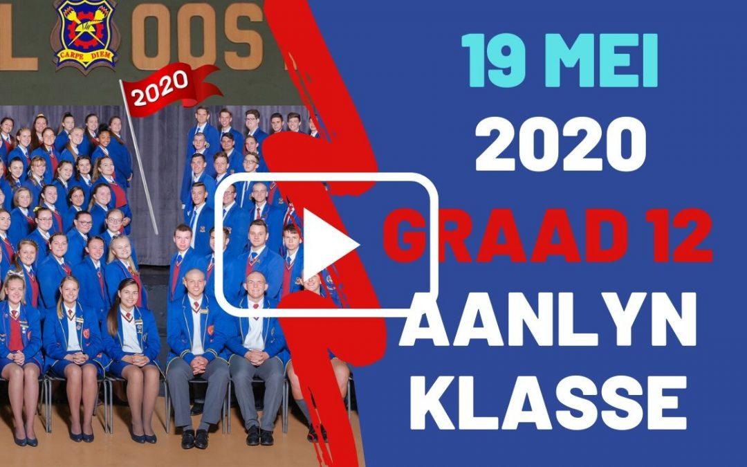 DINSDAG 19 MEI 2020 – GRAAD 12
