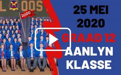 MAANDAG 25 MEI 2020 – GRAAD 12