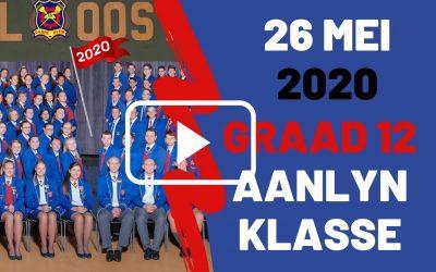 DINSDAG 26 MEI 2020 – GRAAD 12