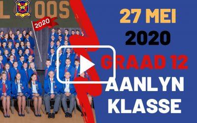 WOENSDAG 27 MEI 2020 – GRAAD 12