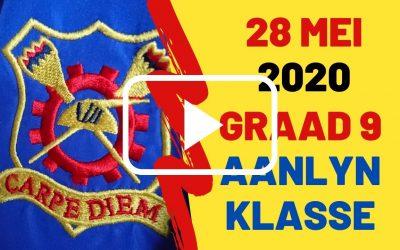 DONDERDAG 28 MEI 2020 – GRAAD 9