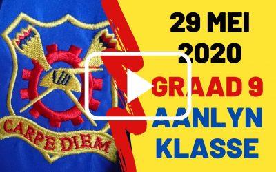 VRYDAG 29 MEI 2020 – GRAAD 9