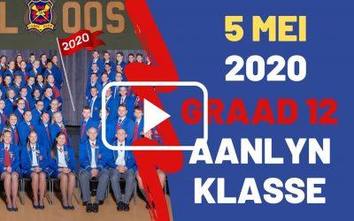 DINSDAG 5 MEI 2020 – GRAAD 12