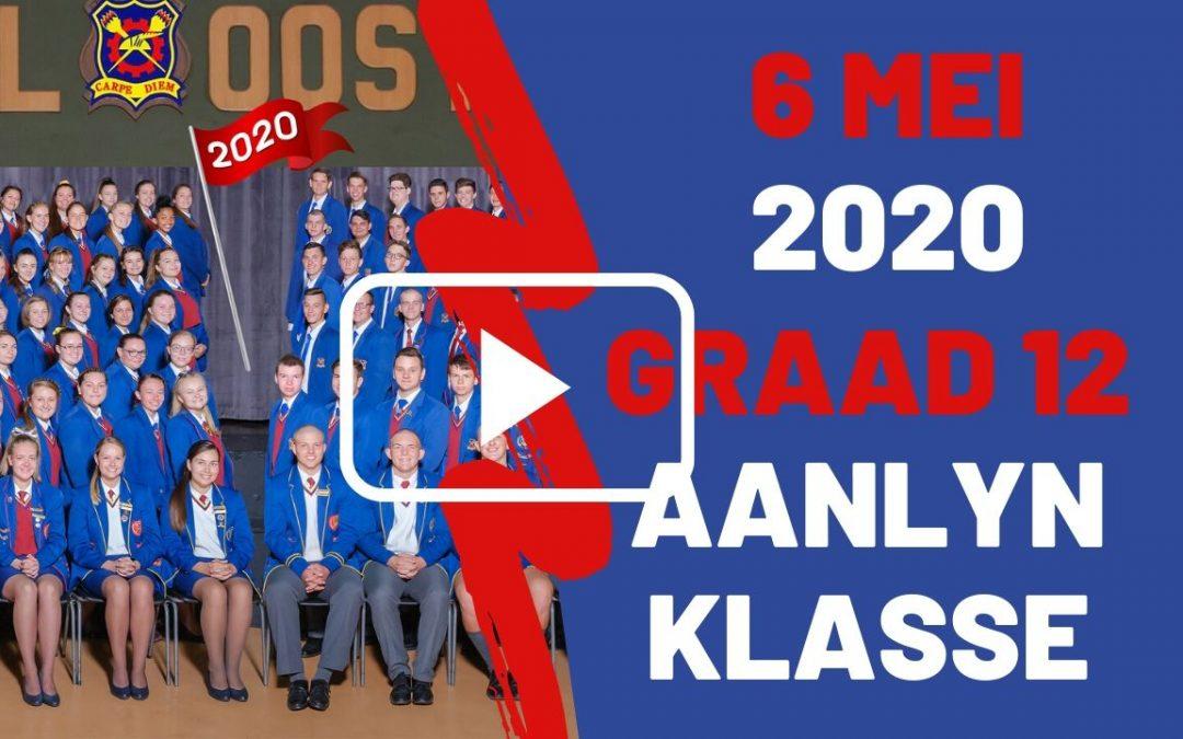 WOENSDAG 6 MEI 2020 – GRAAD 12