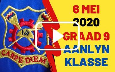 WOENSDAG 6 MEI 2020 – GRAAD 9
