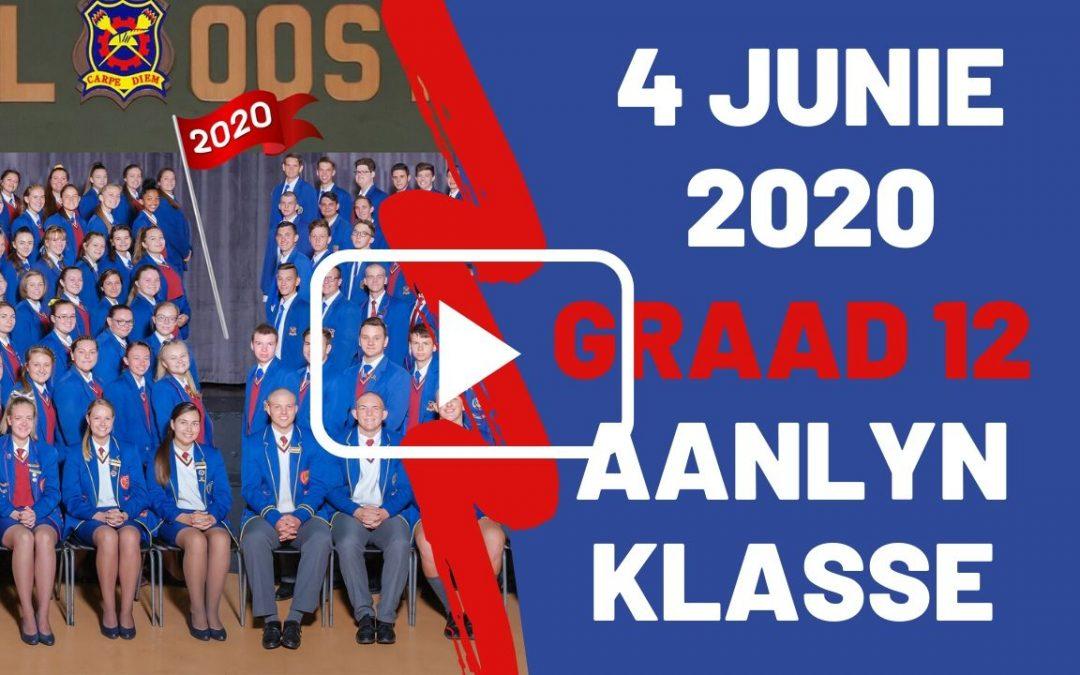 DONDERDAG 04 JUNIE 2020 – GRAAD 12