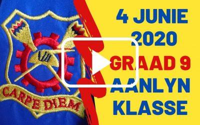 DONDERDAG 04 JUNIE 2020 – GRAAD 9