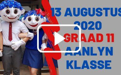 DONDERDAG 13 AUGUSTUS 2020 – GRAAD 11